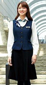 51412 en joie(アンジョア) 美しいシルエットに快適な着心地のフレアースカート 無地 93-51412