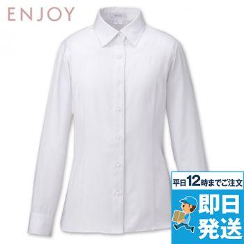 EWB592 enjoy 長袖シャツブラウス 98-EWB592
