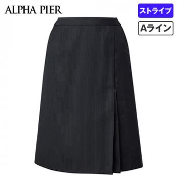 AR3852 アルファピア [通年]Aラインスカート ストライプ[防シワ商品] 40-AR3852
