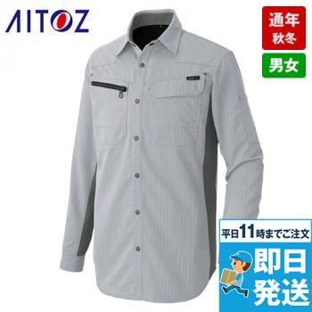 AZ30635 アイトス AZITOヘリンボーン 長袖シャツ