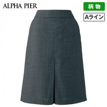 AR3831 アルファピア Aラインスカート エコ・ライラックドビー チェック