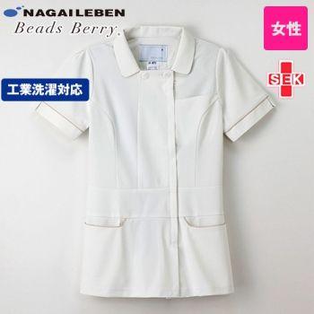 LH6212 ナガイレーベン(nagaileben) ビーズベリー ナースジャケット(女性用)