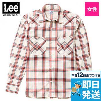 LCS43006 Lee ウエスタンチェック長袖/シャツ(女性用)