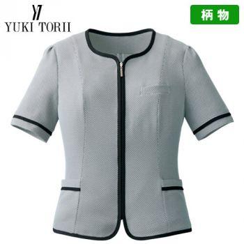 YT1716 ユキトリイ オーバーブラウス チェック(高通気)