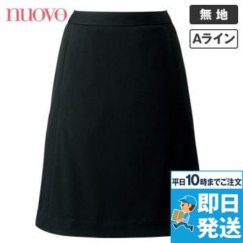 FS45865 nuovo(ヌーヴォ) 切替Aラインスカート ニット 無地 91-FS45865