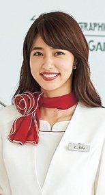 en joie(アンジョア) OP153 大きな花びらのような赤いスカーフ 93-OP153