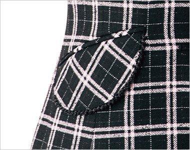 大人可愛いフラップポケットは物が落ちづらいなど便利です
