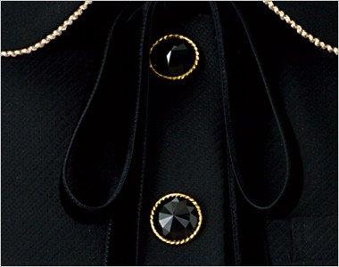 ゴールド縁のきらきら輝くダイヤのような黒ボタン