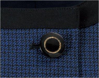 ゴールドリングのデザインの黒ボタン