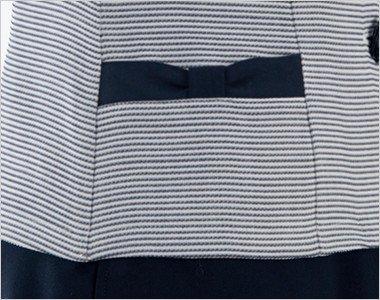 リボンのようなデザインがかわいい両脇ポケット