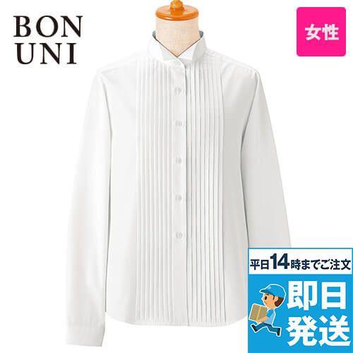 14210 BONUNI(ボストン商会) 長袖/ピンタックシャツ(女性用)(ループ付)