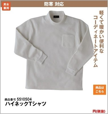 ハイネックTシャツ