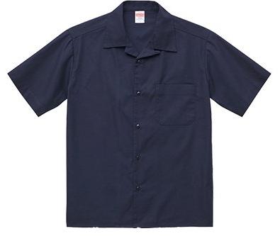 ネイビーの半袖シャツ