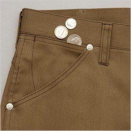 右側 鍵や小物の収納に便利なサブポケット付きのポケット