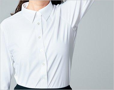 シャツの裾があがらずに、腕がラクラク上がるフレックススリーブII