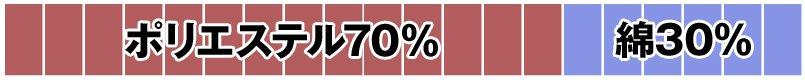 ポリエステル70%・綿30%