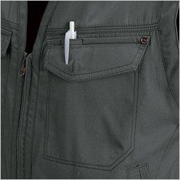 左胸 ペンポケット