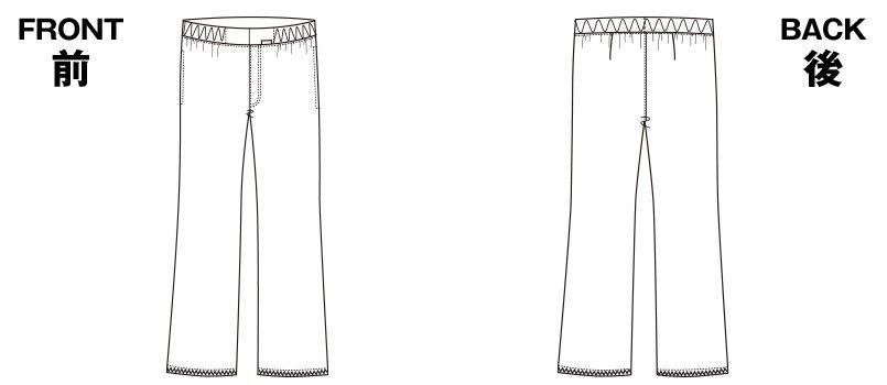 5015EW FOLK(フォーク) メンズパンツ 股下フリーのハンガーイラスト・線画