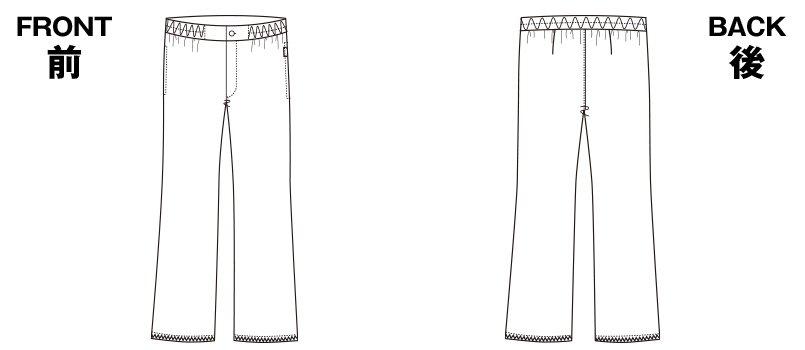 5016EW FOLK(フォーク) パンツ(男性用)のハンガーイラスト・線画