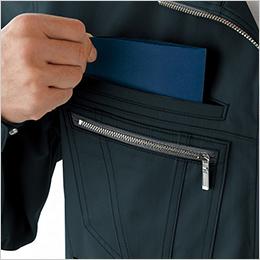 右胸 二重ポケット