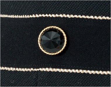 ゴールド縁のダイヤのようなきれいな黒ボタン