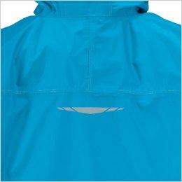 背中・袖口は視認性がアップするリフレクタープリント