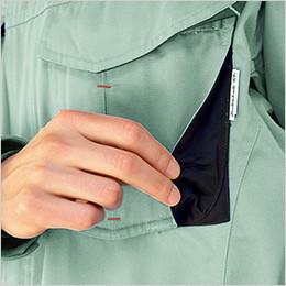 左胸 マチ付きポケット