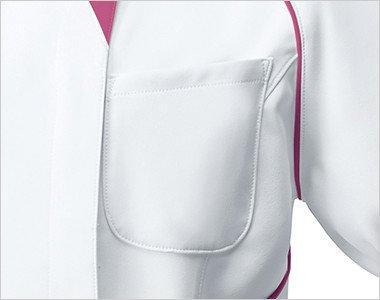 小物が収納できる左胸ポケット