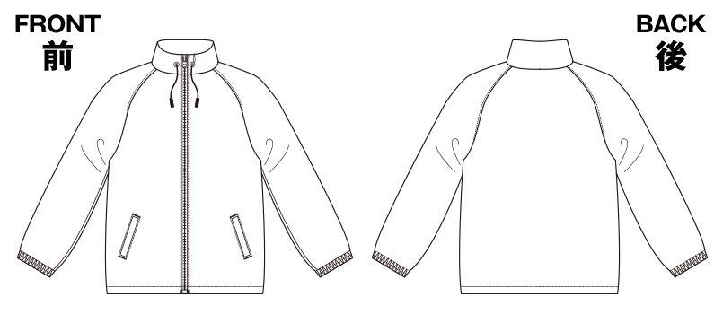 85-7056 ナイロン スタンドジャケット(フードイン)(ライニング付)のハンガーイラスト・線画