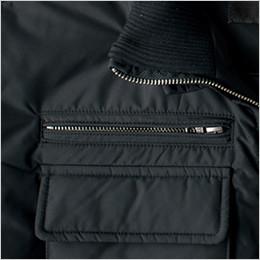 右胸 金属ファスナー使用のポケット