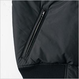 両脇 金属ファスナー使用のポケット
