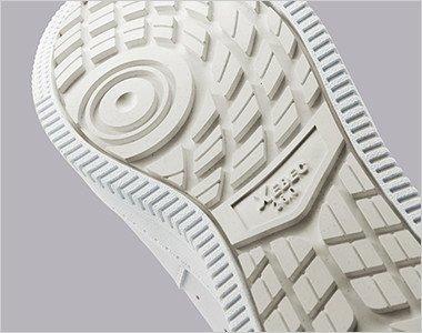 アウトソールは、耐滑性に優れたゴム配合を採用