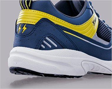 クッション性の高いソフトな履き心地の軽量ソールを採用。