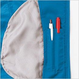 左胸内側 ペン差し付