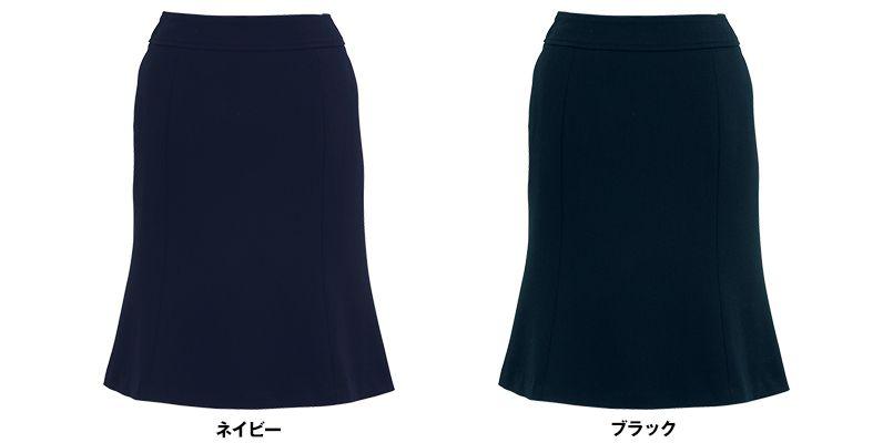 BONMAX AS2256 [通年]トリクシオンヘリンボーン マーメイドスカート 無地 色展開