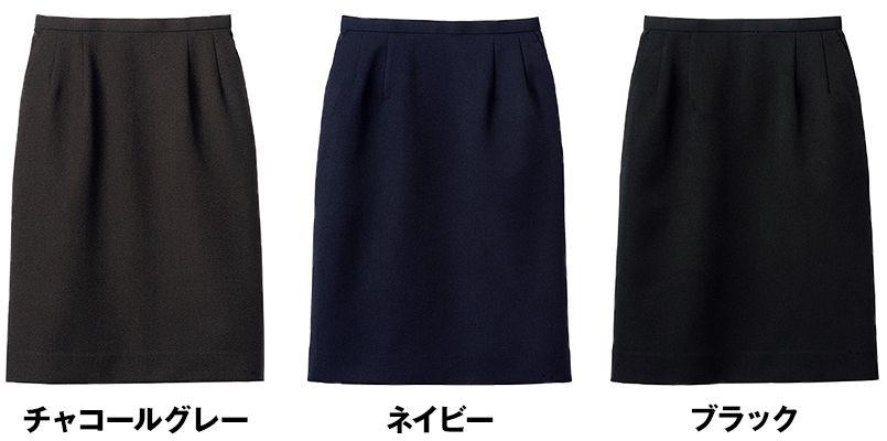 FS2004L FACEMIX/ALBA(アルバ) ストレッチスカート(女性用) 無地 色展開