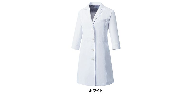 MZ-0057 ミズノ(mizuno) 七分袖 レディースドクターコート・シングル(女性用) 色展開