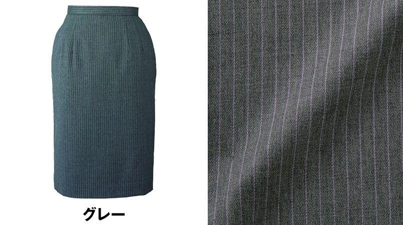 en joie(アンジョア) 51490 [通年]ラベンダーストライプのストレッチで動きやすいスカート 色展開