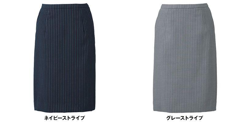 ESS456 enjoy [通年]セミタイトスカート ストライプ 色展開