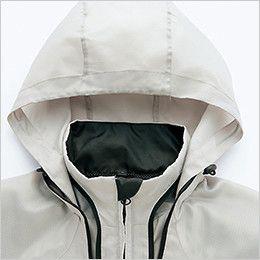 AZ10301 アイトス タルテックス フードインジャケット(薄地素材)(男女兼用) パイピングデザインのファスナーで収納できるフード