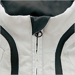 AZ10301 アイトス タルテックス フードインジャケット(薄地素材)(男女兼用) アゴにファスナーが当たるのを防止してノドを守るチンガード