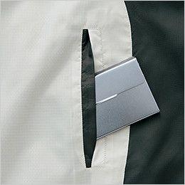 AZ10301 アイトス タルテックス フードインジャケット(薄地素材)(男女兼用) 中身が飛び出しにくいターンポケット