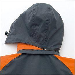 AZ8471 アイトス 業務用 防風防寒ショートコート[フード付・取外し可能] 取り外し可能フード