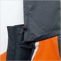 AZ8471 アイトス 業務用 防風防寒ショートコート[フード付・取外し可能] フードドローコード