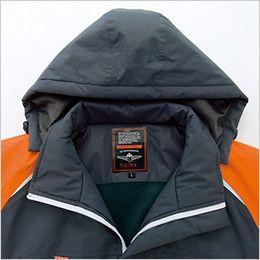 AZ8471 アイトス 業務用 防風防寒ショートコート[フード付・取外し可能] ネーム