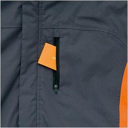 AZ8471 アイトス 業務用 防風防寒ショートコート[フード付・取外し可能] ファスナー付きポケット