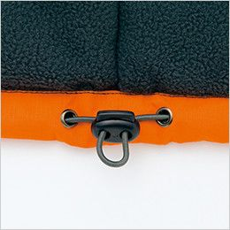 AZ8471 アイトス 業務用 防風防寒ショートコート[フード付・取外し可能] ドローコード
