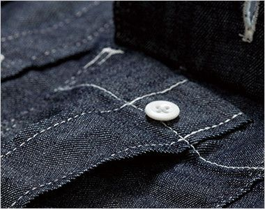 LWS43001 Lee ワーク長袖シャツ(女性用) プリーツ入りで立体的なLee象徴的な胸ポケット