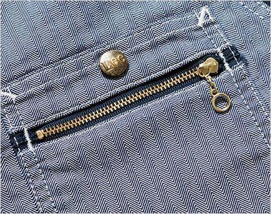 LWV19001 Lee ジップアップベスト(男女兼用) ジッパーも付いたダブルポケット