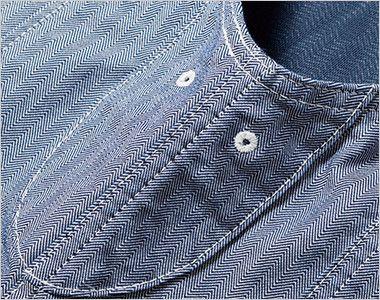 LWV19001 Lee ジップアップベスト(男女兼用) 脇下にある通気用の菊穴